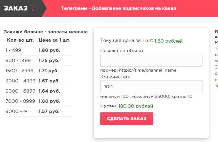 Оформить накрутку подписчиков в телеграмм канал